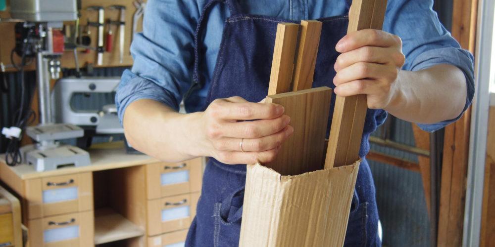 ドールチェアの木材
